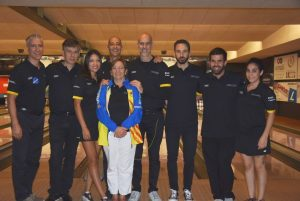 La delegació de Catalunya al Swiss International Team Event 2018 de Bowling. Foto: Louis Cherillo.