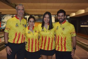 La selecció catalana mixta al Swiss International Team Event 2018 de Bowling. Foto: Louis Cherillo.